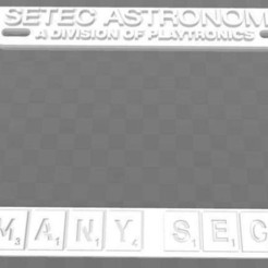 Download free 3D printer designs SETEC ASTRONOMY - TOO MANY SECRETS, License Plate Frame, becker2