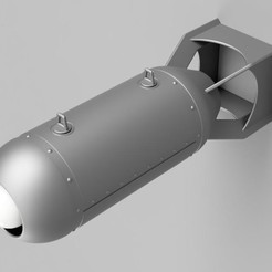 Download free 3D printing designs Aerial Bomb Lamp, hanging or freestanding (My Take), becker2
