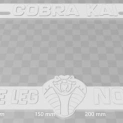 Descargar diseños 3D gratis Cobra Kai - Sweep the Leg No Mercy, Cuadro de matrícula, Karate Kid, becker2