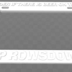 Descargar archivos 3D gratis Zap Rowsdower - Me pregunto si hay cerveza en el sol, marco de la placa de matrícula, MST3K, becker2