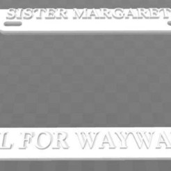 Télécharger fichier 3D gratuit Cadre de plaque d'immatriculation de l'école Sister Margaret's School For Wayward Girls, Deadpool, becker2