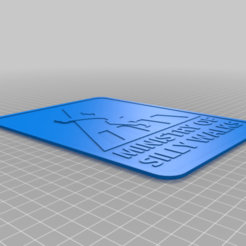 Download free STL file Ministry of Silly Walks sign • 3D printer object, becker2