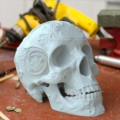 Descargar archivos 3D gratis Ornamento de cráneo, jeffree