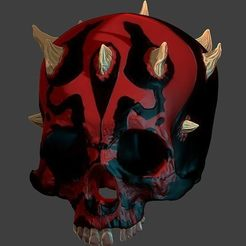 60308398_448838805870568_943264372564688896_n.jpg Download free STL file Darth-Maul Skull • 3D printable object, jeffree