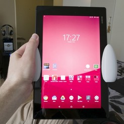 Free 3D model Comfort grips for the Xperia Z2 tablet, 3D_Printed_Mangle