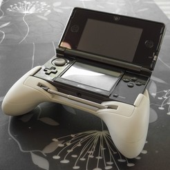 Free 3d print files Ergonomic Grip For 3DS v2 (original 3DS + DS Lite), 3D_Printed_Mangle