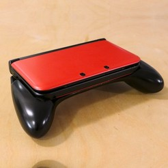 STL files Ergonomic Grip for the Original 3DS XL, 3D_Printed_Mangle