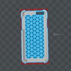 3D print files Iphone 6 Case Triangles, Piedrita23