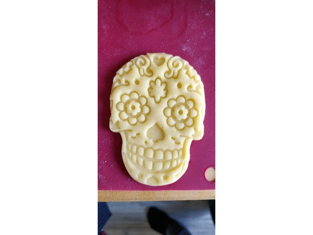 437a7931e04358a28368c25711bbd3c9_preview_featured.jpg Download free STL file Cookie cutter Mexican skull • 3D print design, ichano