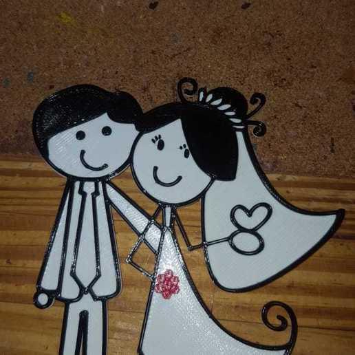 Foto de Ignacio Pachano.jpg Download free STL file toppet wedding cake • Template to 3D print, ichano
