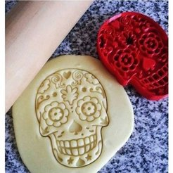 Download free 3D printer designs Cookie cutter Mexican skull, ichano