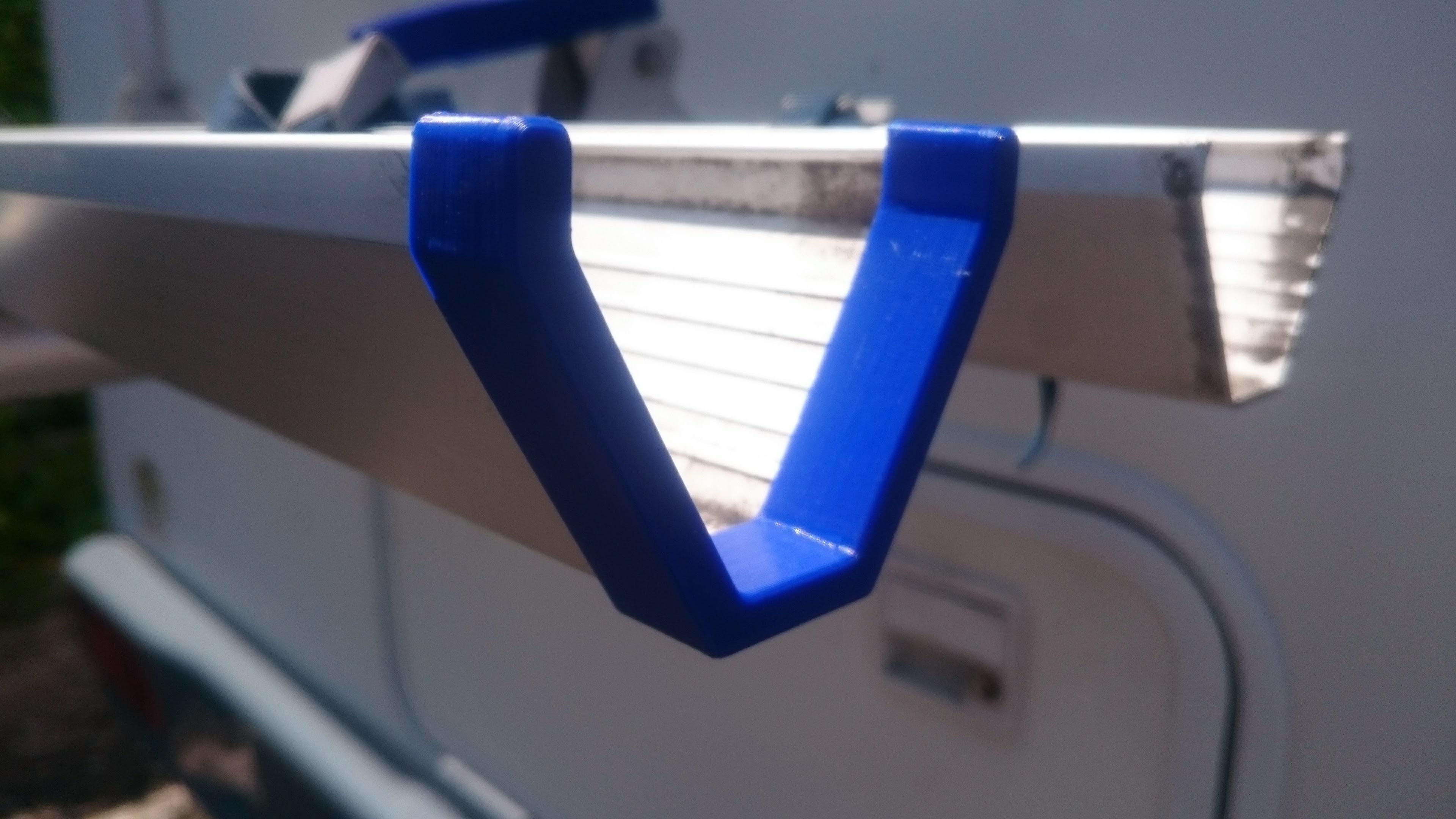 02-Embout de rail velo.jpg Download free STL file Parts Bike carrier for motorhomes • 3D printer model, Ldom21