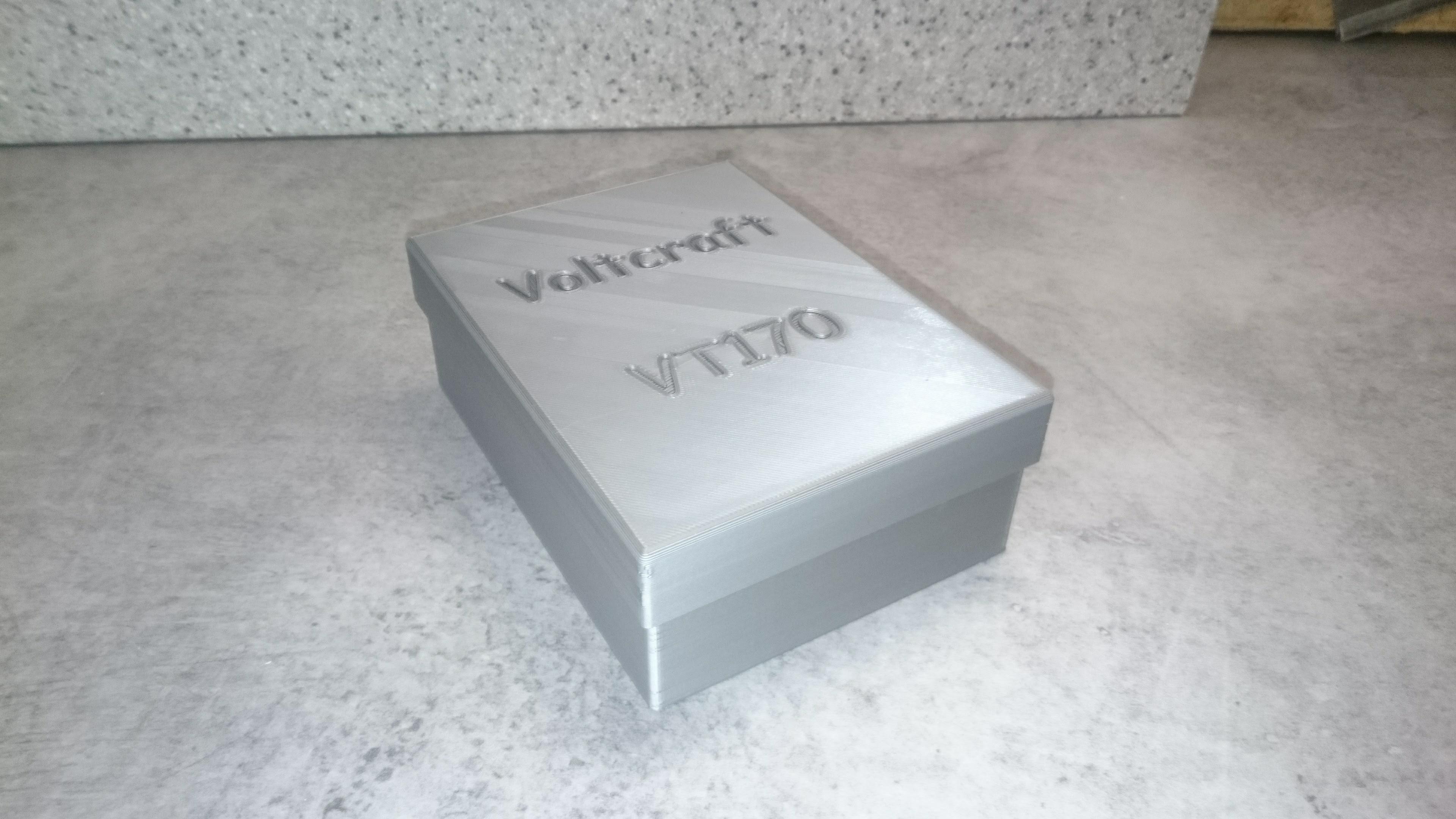 Voltcraft VC170 03.jpg Download free STL file Box for Voltmeter • 3D print template, Ldom21