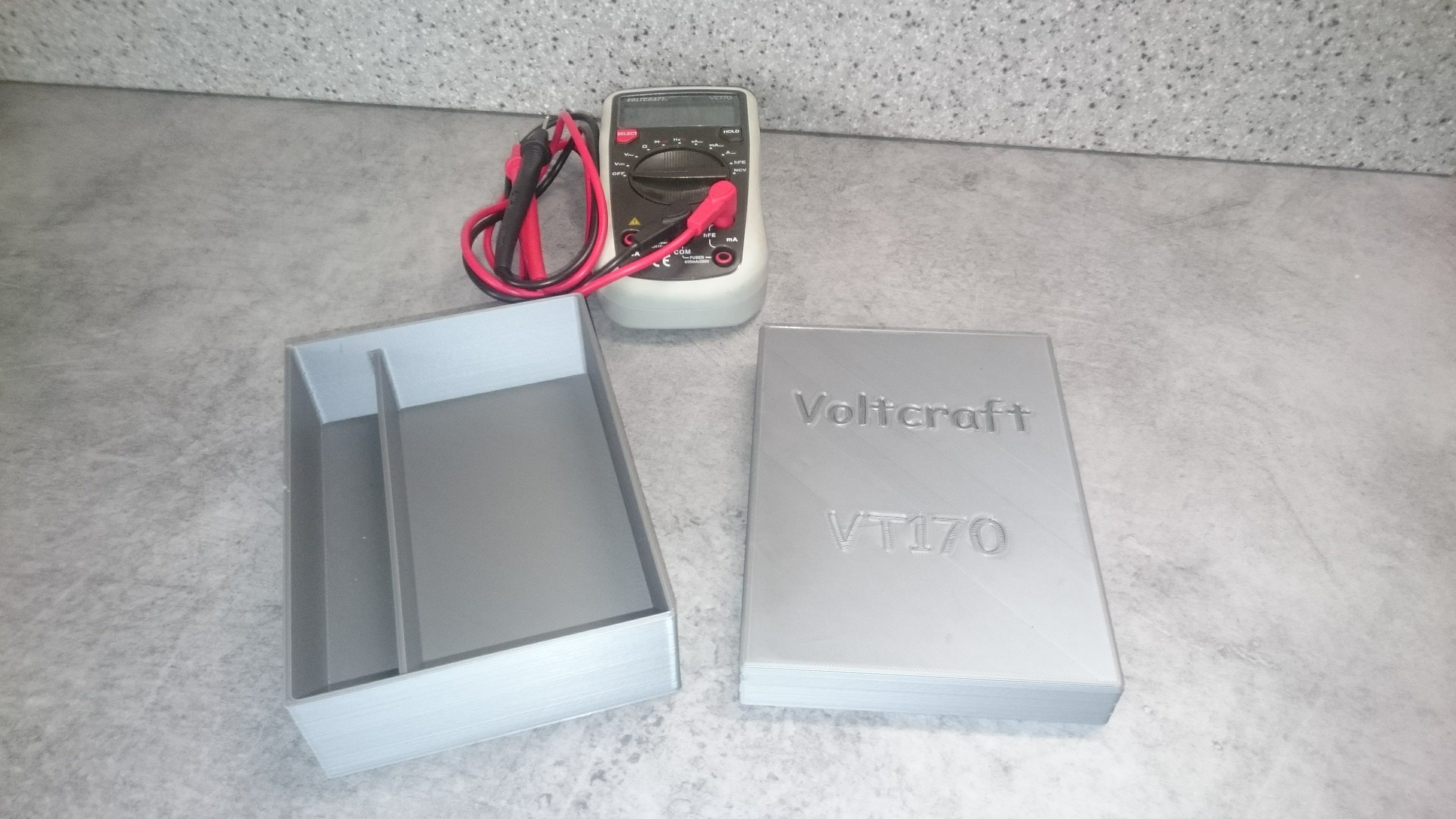 Voltcraft VC170 01.jpg Download free STL file Box for Voltmeter • 3D print template, Ldom21