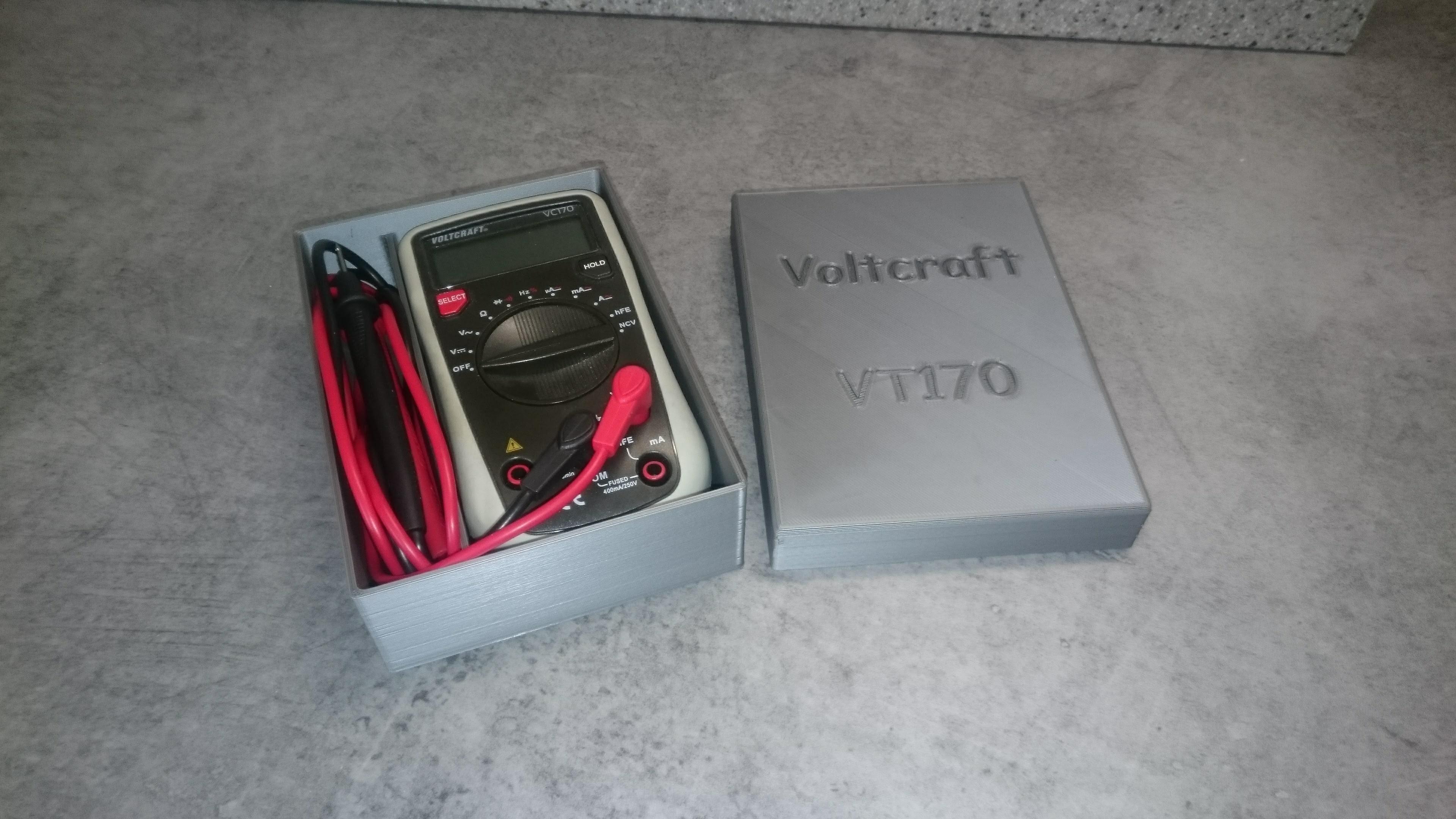Voltcraft VC170 02.jpg Download free STL file Box for Voltmeter • 3D print template, Ldom21