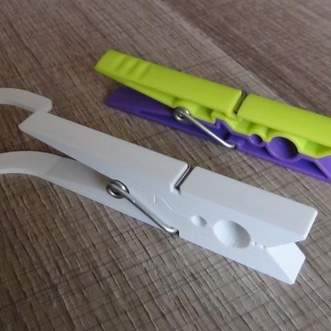 Pince a linge camping 3.JPG Télécharger fichier STL gratuit Pince à linge camping ou voyage • Objet à imprimer en 3D, Ldom21