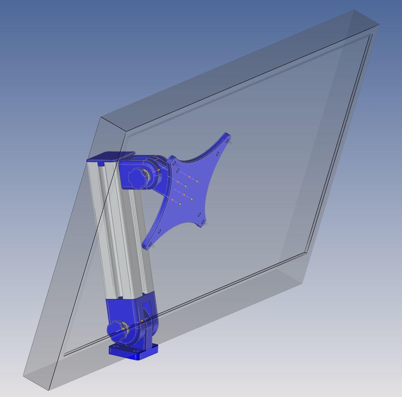 Capture 01.JPG Download free STL file Motorhome TV support • 3D print design, Ldom21