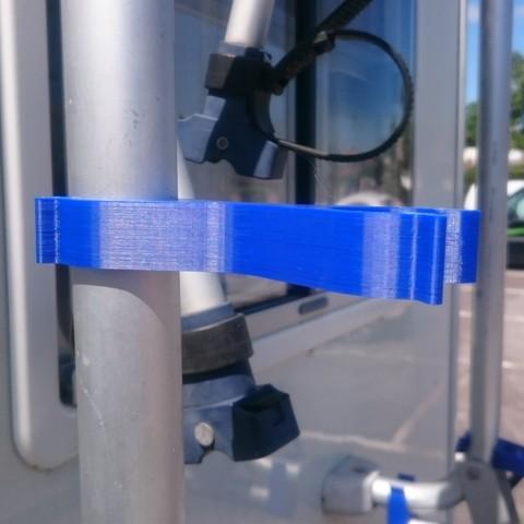01-Clipse porte velo N1.jpg Télécharger fichier STL gratuit Pièces Porte vélo camping car • Plan à imprimer en 3D, Ldom21