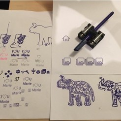 Free 3D printer file CR10's Magnetic Removable Plotter Option, Tibus