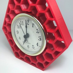 Hexagonal clock STL file, IgnacioGangloff
