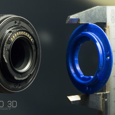 Download 3D printer model Lumix lens mount replacement 14-42, IgnacioGangloff