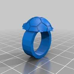 Download 3D print files Child Turtle Ring, DjeffEvannHuet