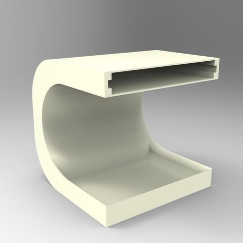stl gratuit meuble de rangement table de nuit pour poser. Black Bedroom Furniture Sets. Home Design Ideas