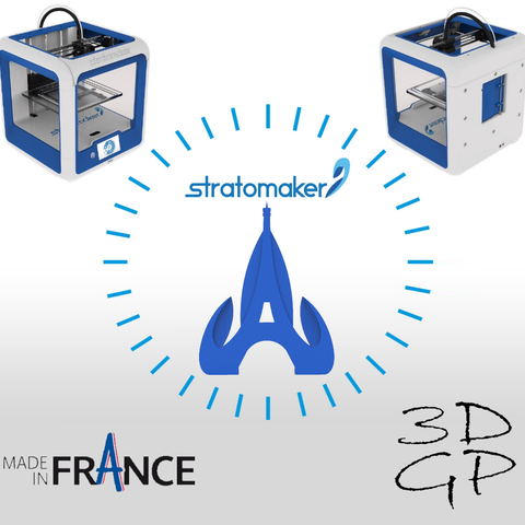 Free 3D printer model Key ring or stratomaker figurine with tapered tower, GuilhemPerroud