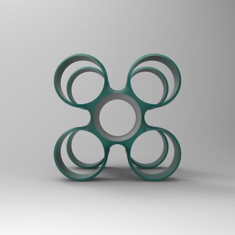 rendu vert face.jpg Download free STL file Storage unit for wine bottles • 3D printable design, GuilhemPerroud