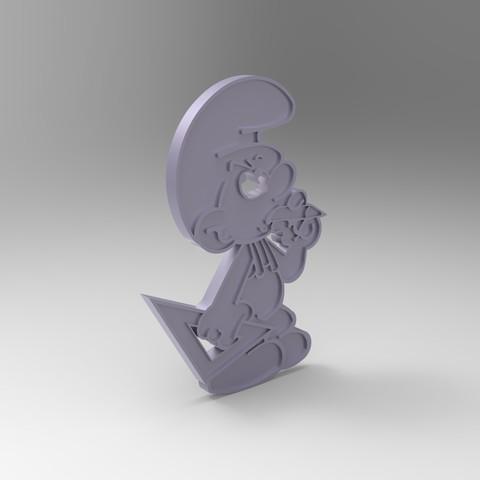 rendu schtroumpfs bricoleur plastique gris.jpg Télécharger fichier STL gratuit figurine schtroumpfs bricoleur smurf peyo porte clef • Objet pour impression 3D, GuilhemPerroud
