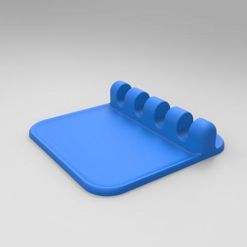 rendu bleu prof.jpg Download free STL file SUPPORT & REST Kitchen utensils • Template to 3D print, GuilhemPerroud