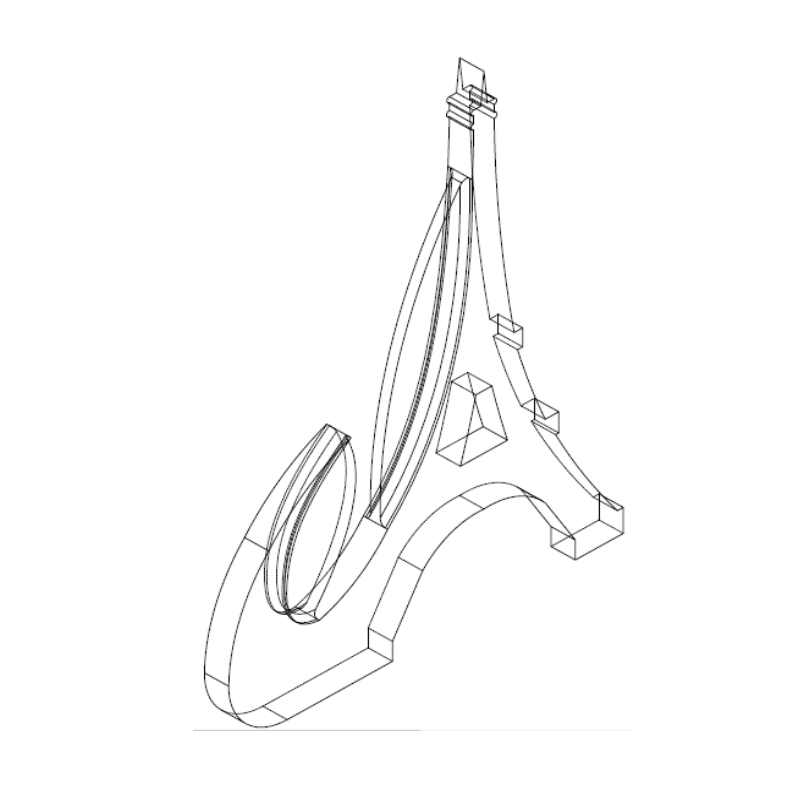 plan 2.png Download free STL file Key ring or stratomaker figurine with tapered tower. • Model to 3D print, GuilhemPerroud
