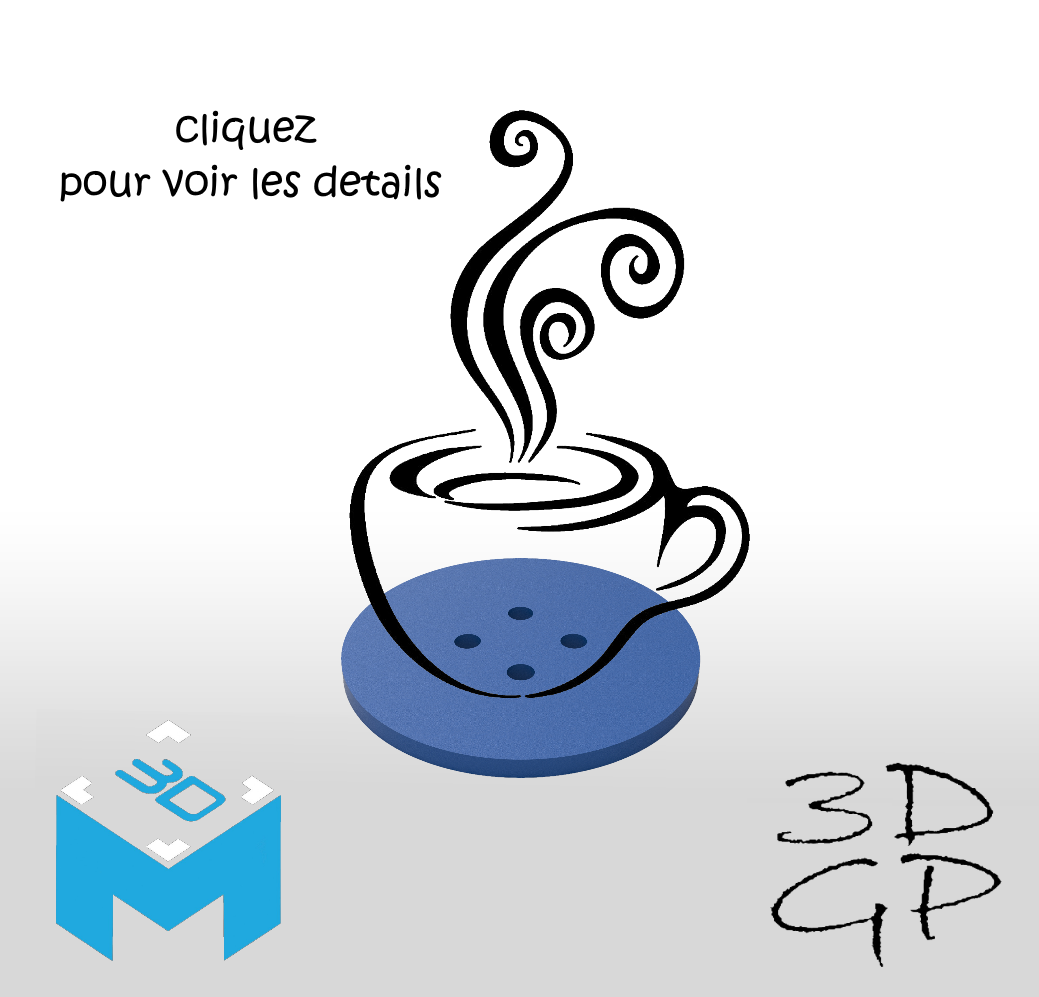 affiche care.png Download free STL file Cup mats • 3D print design, GuilhemPerroud