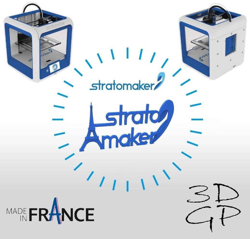 affiche.jpg Download free STL file Stratomaker brand and logo (Eiffel Tower) • 3D printer model, GuilhemPerroud