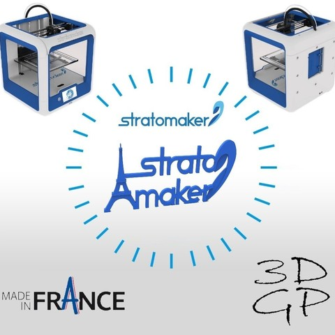 Free STL file Stratomaker brand and logo (Eiffel Tower), GuilhemPerroud
