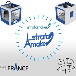 Download free STL Stratomaker brand and logo (Eiffel Tower), GuilhemPerroud