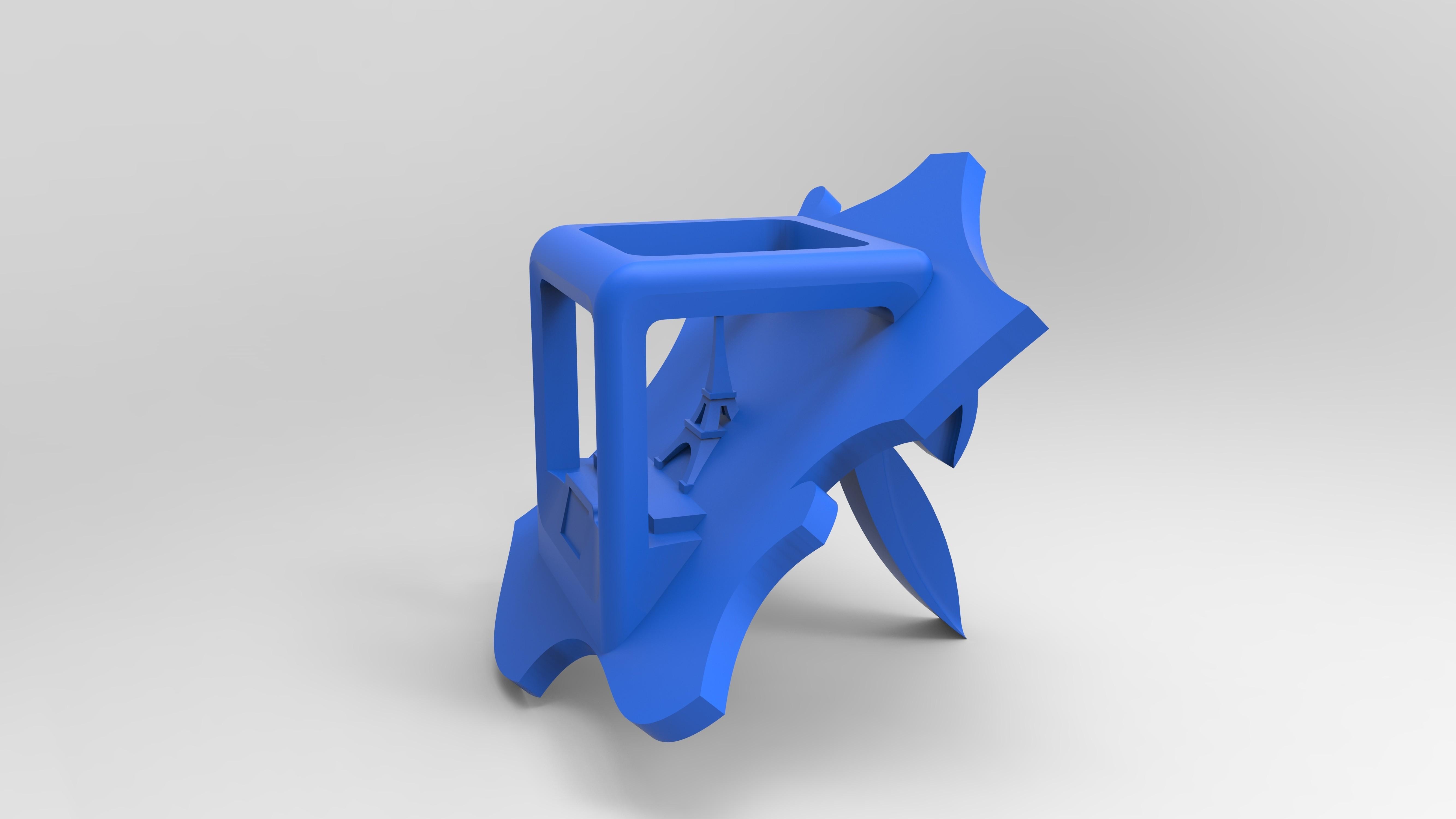 renducie droitvebleu.198.jpg Download free STL file Key ring or stratomaker figurine - printer located in France • 3D printer template, GuilhemPerroud