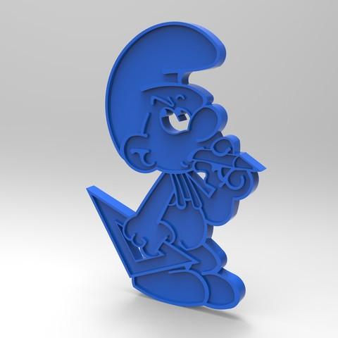 rendu schtroumpfs bricoleurplastique bleu.jpg Download free STL file smurf peyo smurf do-it-yourself smurf figurine key ring • Design to 3D print, GuilhemPerroud