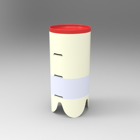 rendu total.106.jpg Download STL file Storage box, bedside table, custom furniture • 3D print design, GuilhemPerroud
