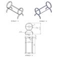Free stl Design wine bottle holder to assemble to measure, GuilhemPerroud