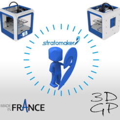 Download free 3D printing templates Stratomaker mascot, GuilhemPerroud