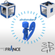 Free 3D printer files Stratomaker mascot, GuilhemPerroud
