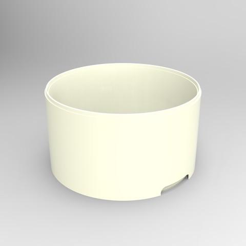 rendu caisse plastique blanc.jpg Download STL file Storage box, bedside table, custom furniture • 3D print design, GuilhemPerroud