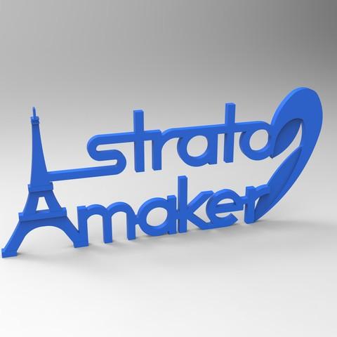 redu bleu affiche.jpg Download free STL file Stratomaker brand and logo (Eiffel Tower) • 3D printer model, GuilhemPerroud