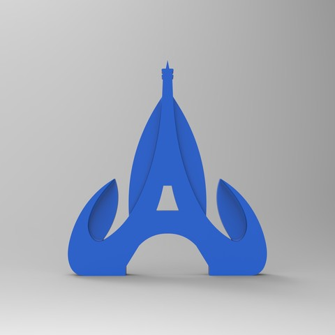 redu face bleu .jpg Download free STL file Key ring or stratomaker figurine with tapered tower • 3D printable object, GuilhemPerroud