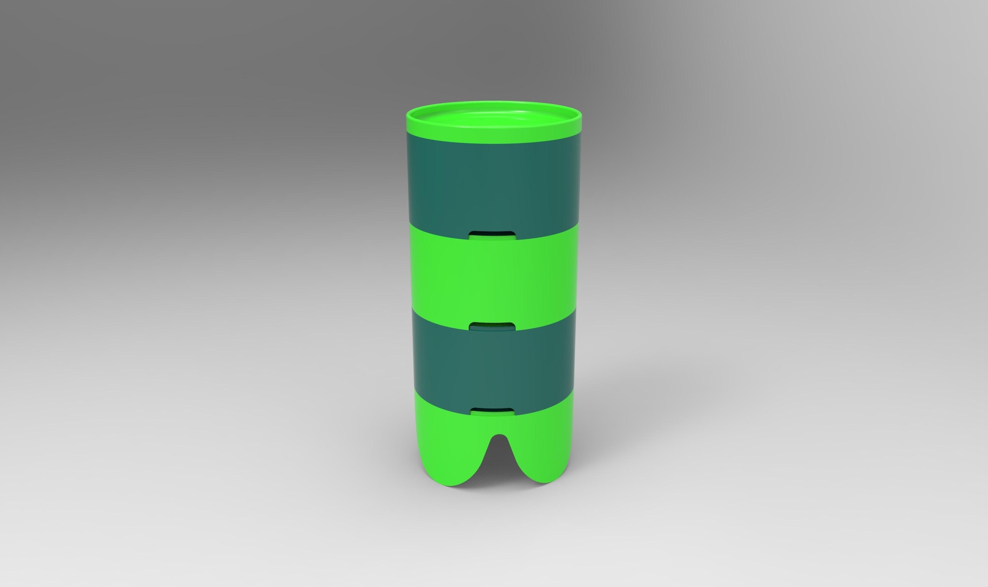 rendu total.107.jpg Download STL file Storage box, bedside table, custom furniture • 3D print design, GuilhemPerroud