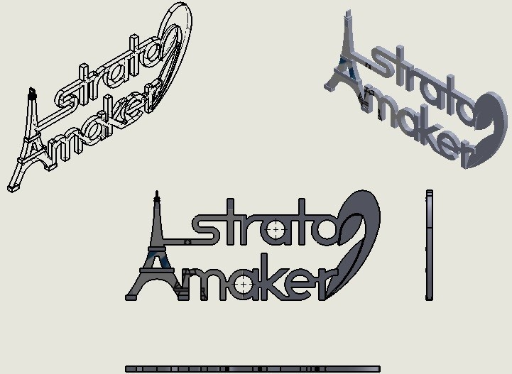 dim.jpg Download free STL file Stratomaker brand and logo (Eiffel Tower) • 3D printer model, GuilhemPerroud