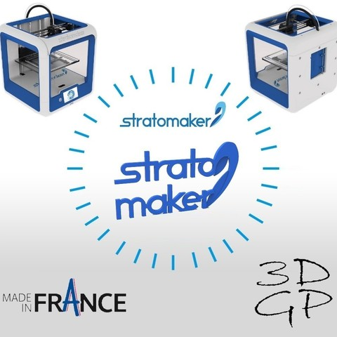Free 3d model Stratomaker brand and logo, GuilhemPerroud