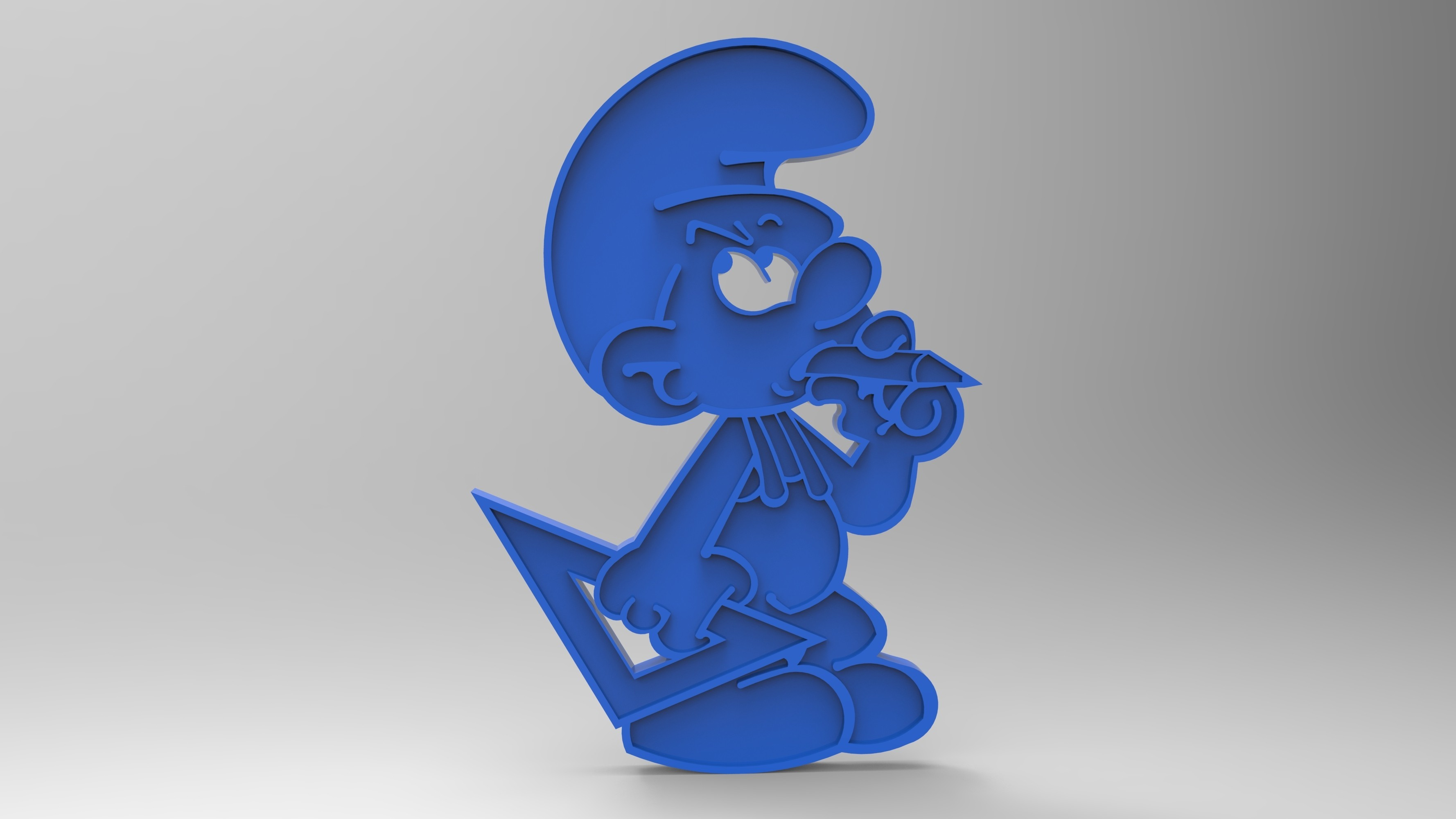 rendu schtroumpfs bricoleur plastique bleu face.jpg Télécharger fichier STL gratuit figurine schtroumpfs bricoleur smurf peyo porte clef • Objet pour impression 3D, GuilhemPerroud