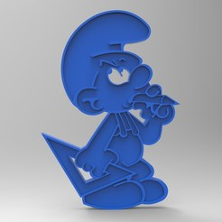 Download free 3D printer designs smurf peyo smurf do-it-yourself smurf figurine key ring, GuilhemPerroud